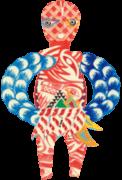 秋田 人形道祖神 小雪沢のドンジンサマ女神 in 大館市