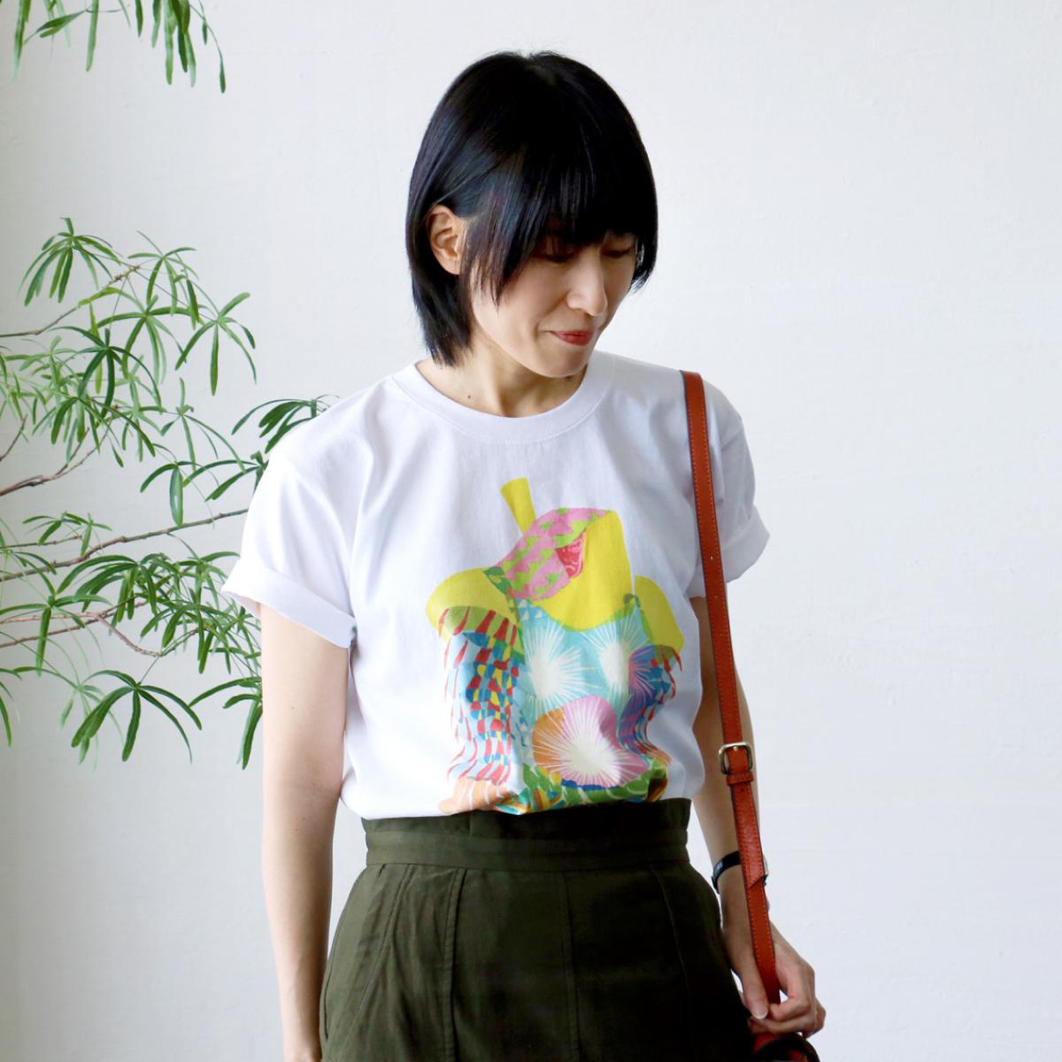 秋田人形道祖神 TシャツTYPE.A 背面