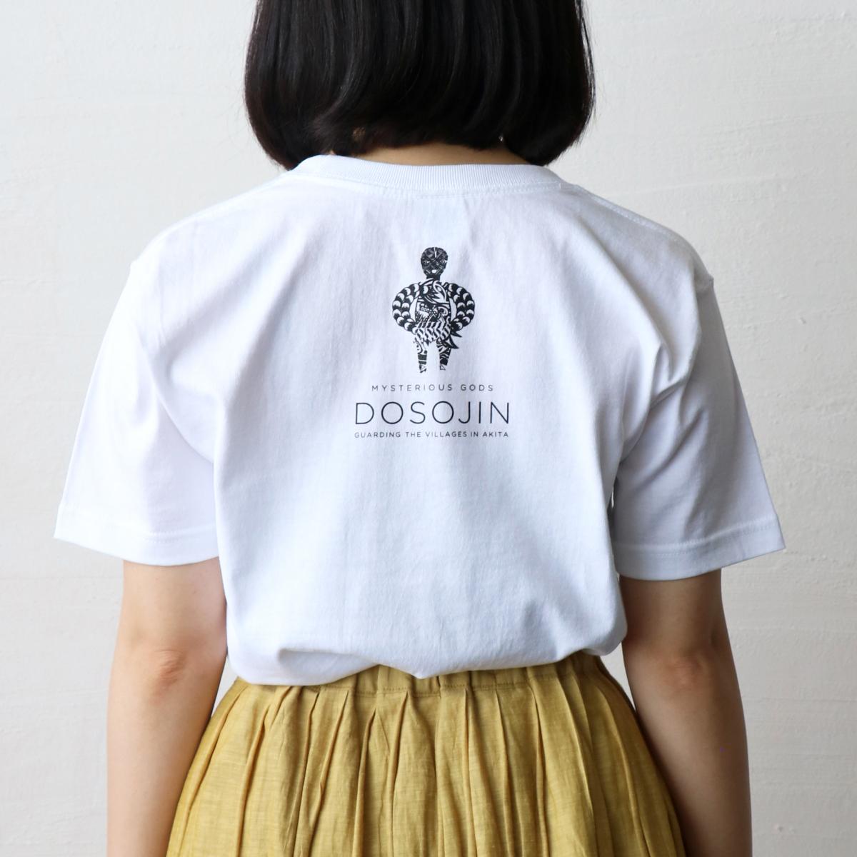 秋田人形道祖神 Tシャツ ナマハゲ ホワイト 背面