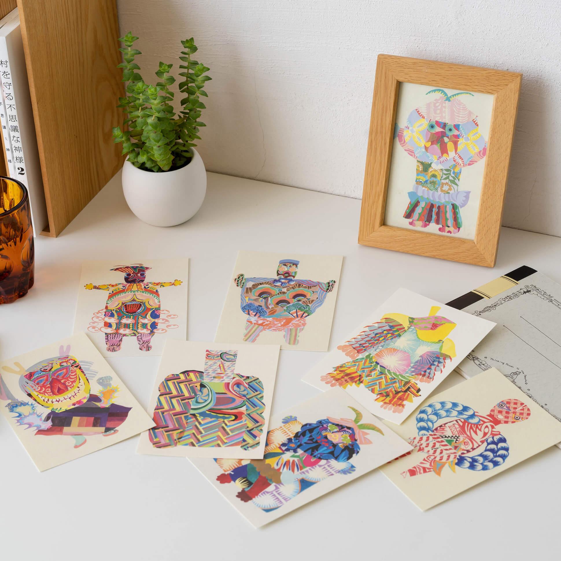 秋田人形道祖神 ポストカード(8枚1セット) 商品画像