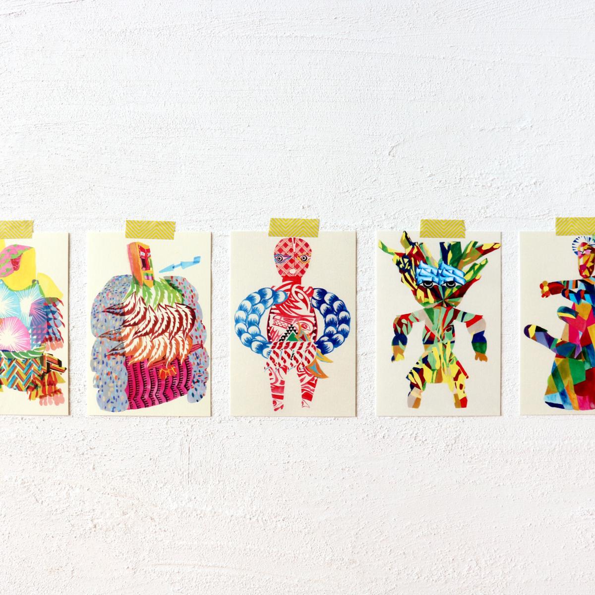 秋田人形道祖神 ポストカード商品画像