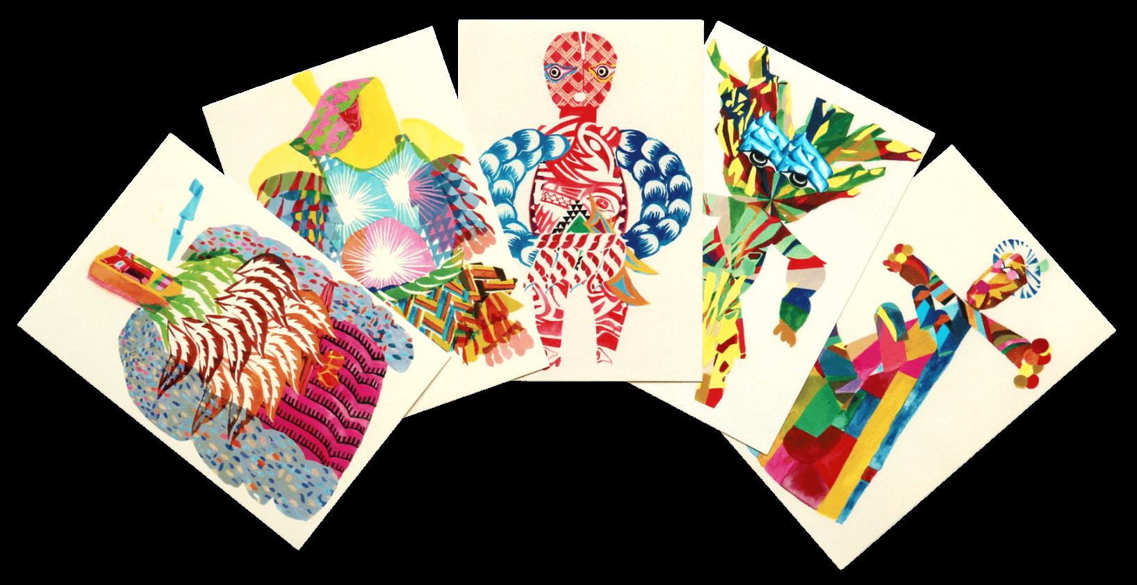 秋田人形道祖神ポストカード 商品画像