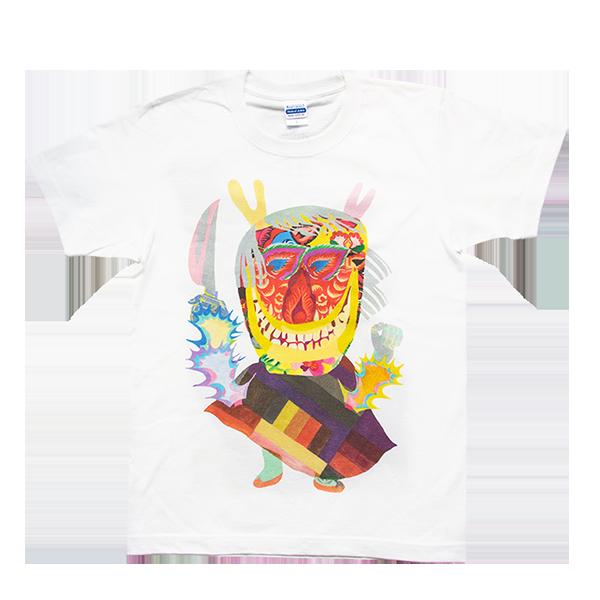 道祖神イラストTシャツ ナマハゲ ホワイト 商品画像