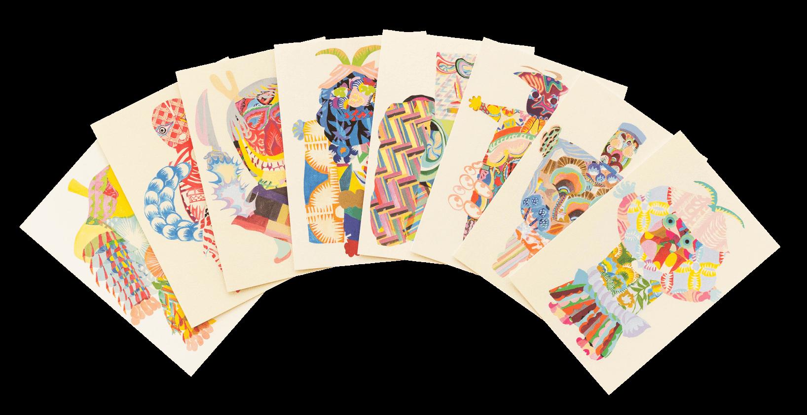 秋田人形道祖神 ポストカード商品写真